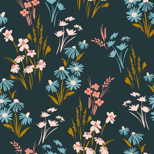 Patrón floral sin fisuras Diseño vectorial