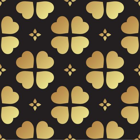 Gouden naadloos patroon met klaverbladeren, het symbool van St. Patrick Day in Ierland vector
