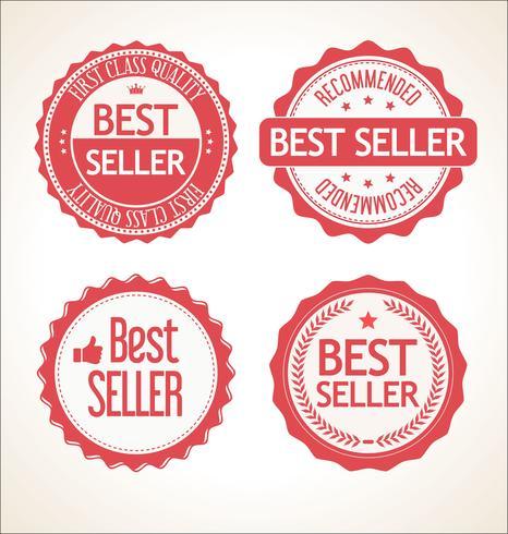 Melhor coleção de crachá e etiquetas vintage retrô de vendedor
