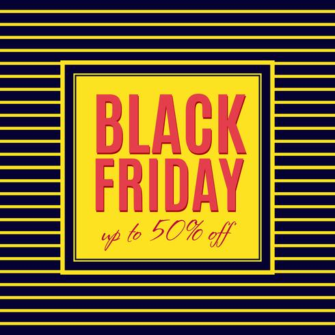 Diseño de cartel de venta de viernes negro vector