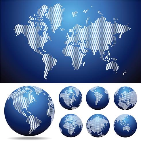 Globe earth map vector design illustration template