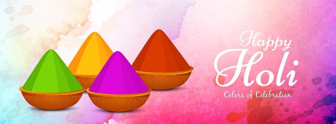 Projeto colorido abstrato da bandeira do festival feliz de Holi