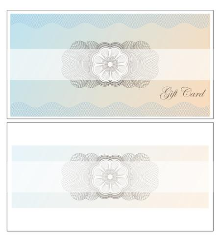Giftcard vector design illustration template