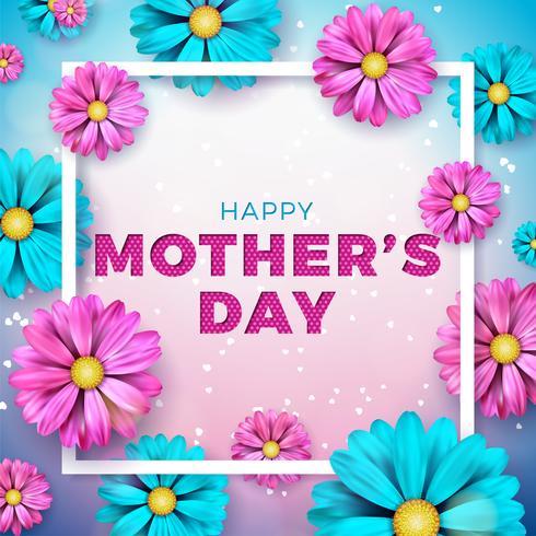 Diseño feliz de la tarjeta de felicitación del día de madre