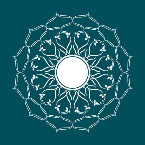 Eléments de décoration Vintage Mandala Fleurs