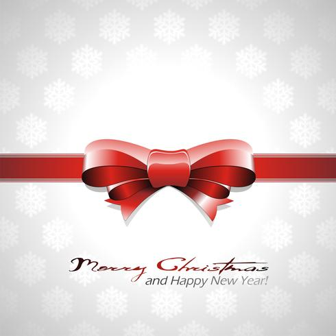 Vektor-Weihnachtshintergrund mit rotem Bogen und Band.