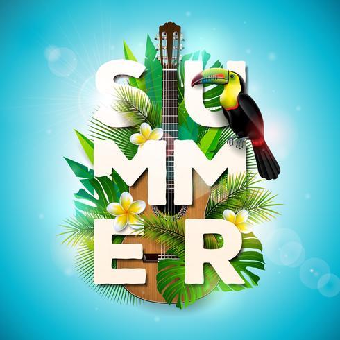 Illustration typographique de vacances d'été