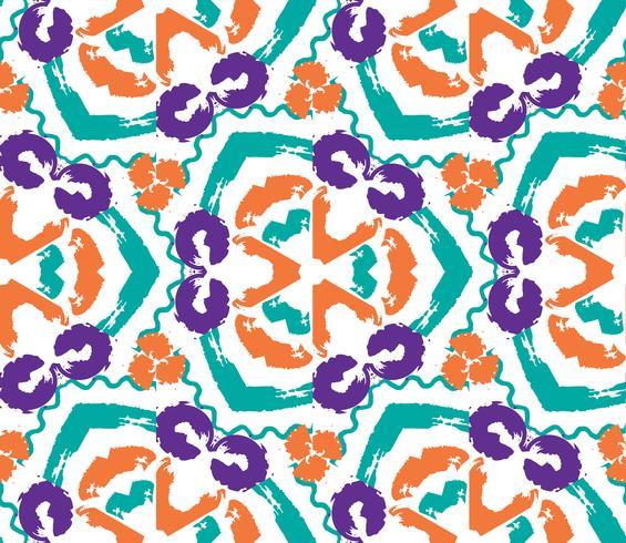 Dibujado a mano pintado de patrones sin fisuras. vector
