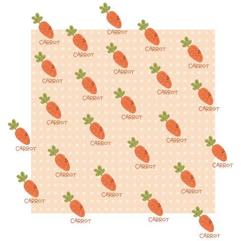 Carrot Pattern vector design illustration template