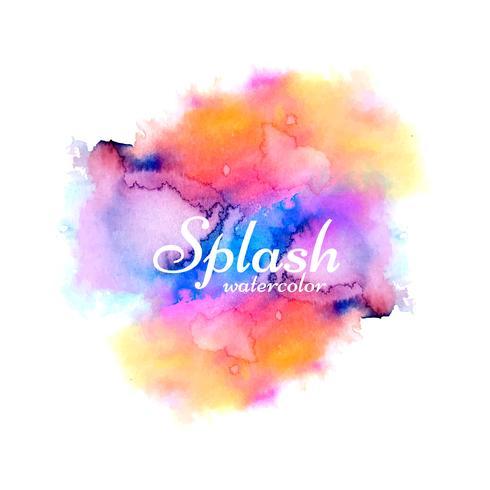 Modern colorful watercolor splash design vector