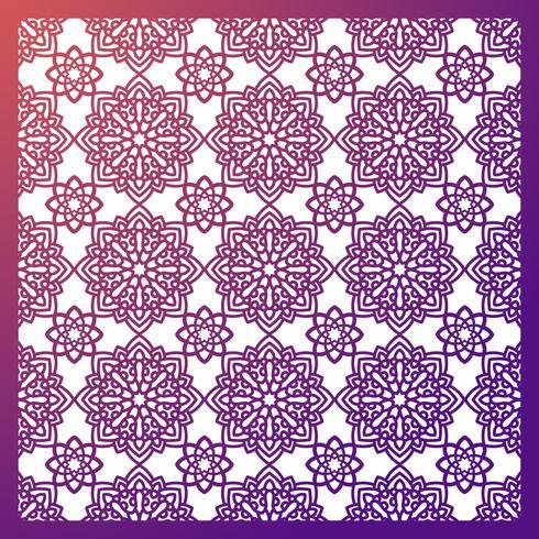 Painel Square Pattern para corte a laser com mandalas. vetor