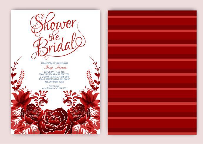 Floral Frame Bridal Shower Invitation or Wedding card