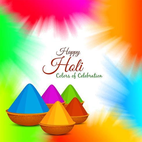 Abstracte kleurrijke Gelukkige Holi-achtergrond