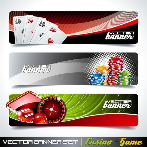 Bannière de vecteur sur un thème de casino.
