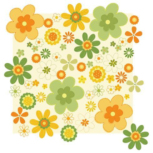 Flower Pattern vector design illustration template