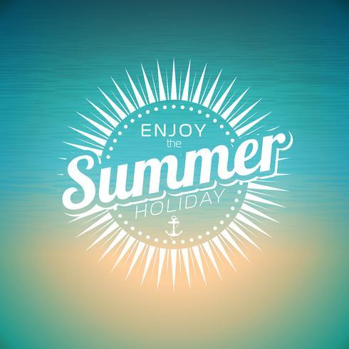 Ilustración vectorial sobre un tema de vacaciones de verano