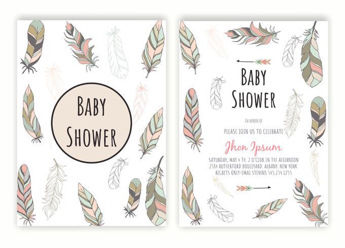 Bebé ducha mano dibujada nativo americano sueño atrapas cuentas vector imagen
