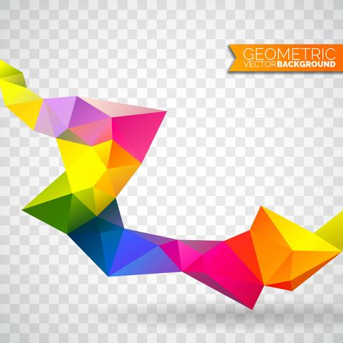 Fond de triangles géométriques de vecteur. Dessin polygonal abstrait.
