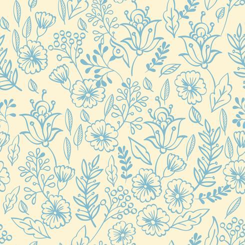 Vintage blommigt sömlöst mönster