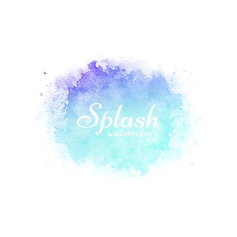 Colorful watercolor splash decorative design background