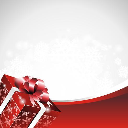 Vektorweihnachtsillustration mit Geschenkbox.