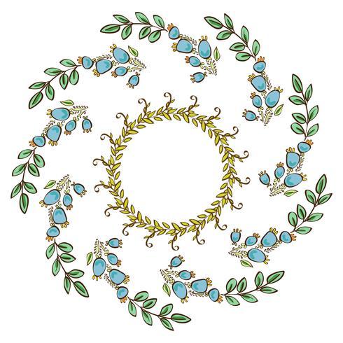 Kranzrahmen, Rand der Blumenverzierung