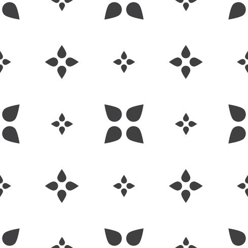 Monochrome geometric seamless universal patterns tiling.