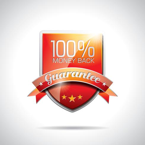 Vector Guarantee Labels Illustration with shiny styled design