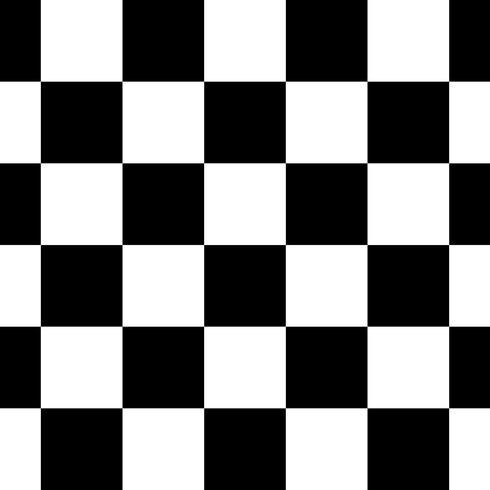 Ilustração em vetor fundo preto e branco xadrez sem costura padrão de repetição