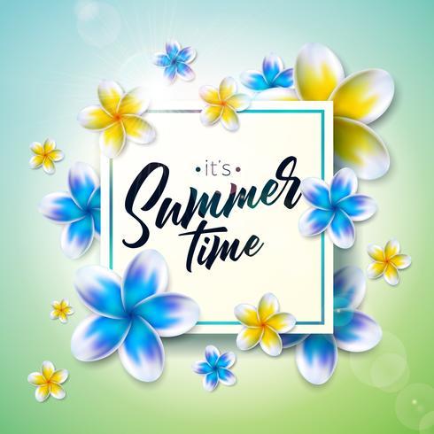 """""""É hora de verão"""" ilustração"""