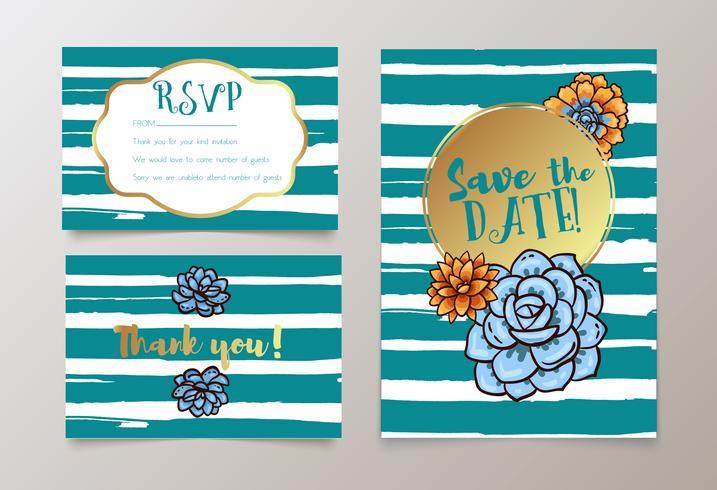 bodas, guardar la fecha invitación, RSVP y gracias