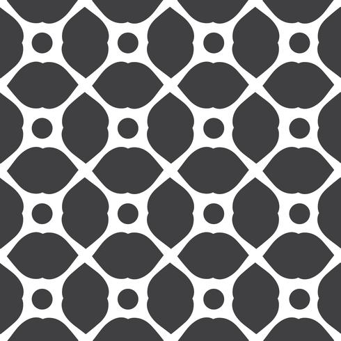 Monochrome geometric seamless universal patterns tiling.  vector