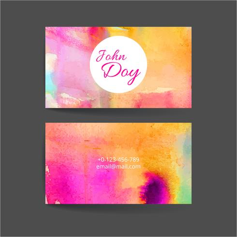 Conjunto de dos tarjetas creativas