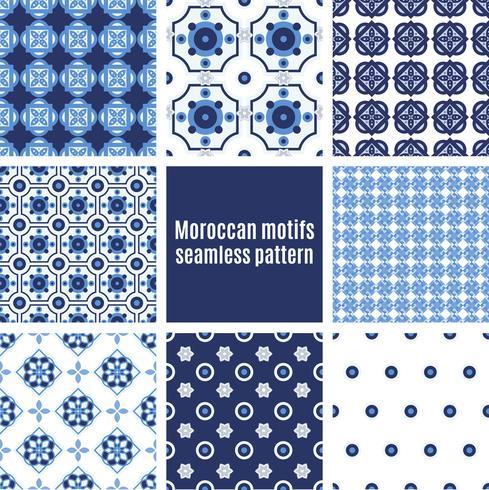 Insieme di modelli azulejos portoghesi