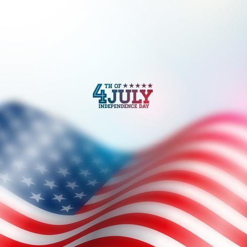 Día de la independencia de los Estados Unidos Vector de fondo