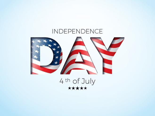 Onafhankelijkheidsdag van de VS Vectorillustratie vector