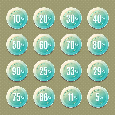 set van vintage, badges en labels,