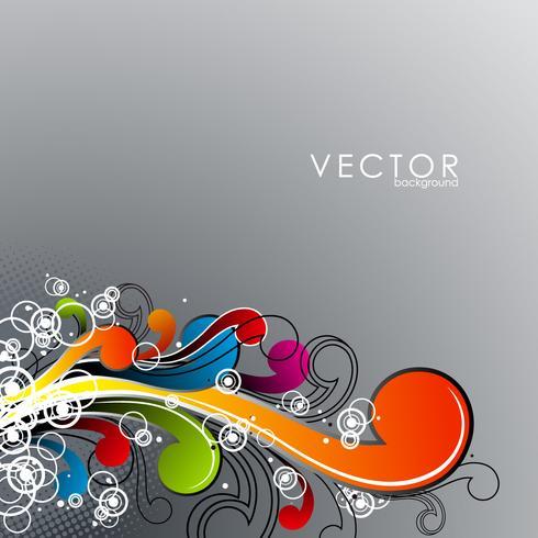 Elementos coloridos abstratos do grunge no fundo claro.