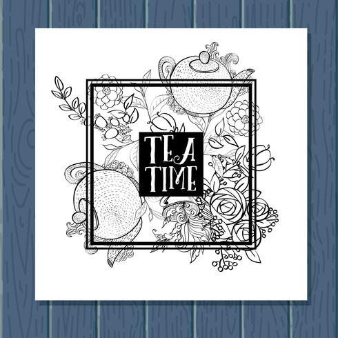 Set di modelli di banner tea time design