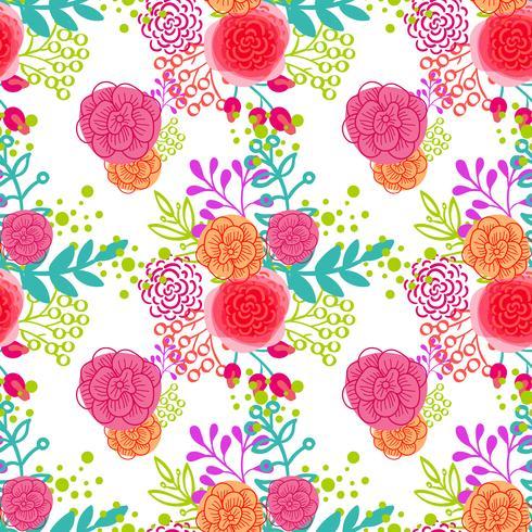 Vintage patrón floral sin fisuras