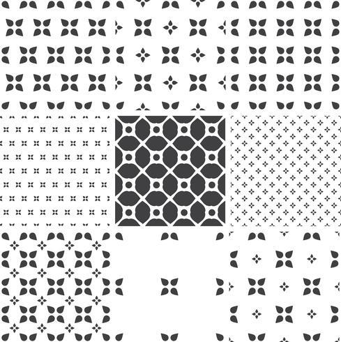 Conjunto de patrones universales sin fisuras geométricos monocromáticos, suelo de baldosas.