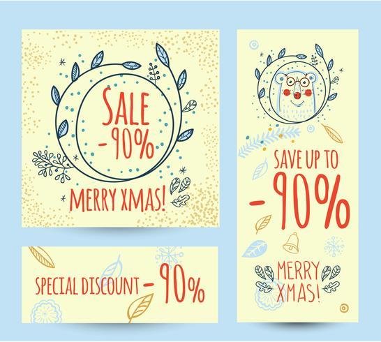 Insegna di web del modello di progettazione di vendita di Natale vettore
