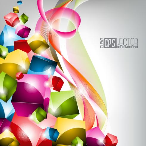 Colorfull-Vektorhintergrunddesign mit Platz für Ihren Text.