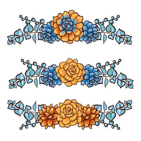 Decorative floral element of succulents