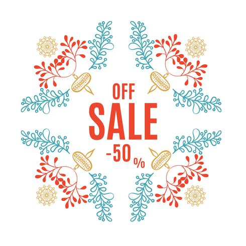 Bright Christmas sale banner  vector