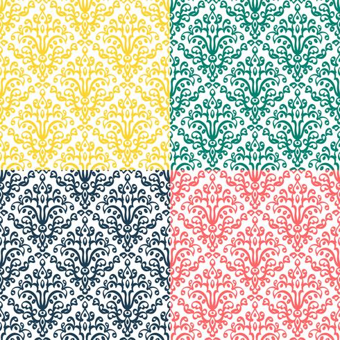 Victorian ornament, seamless pattern vector