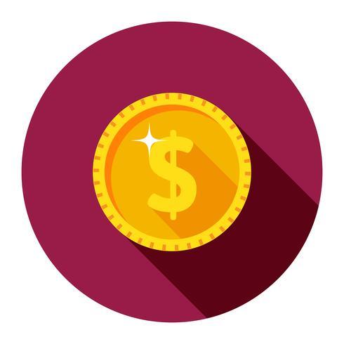 moeda de ouro. dólar vetor