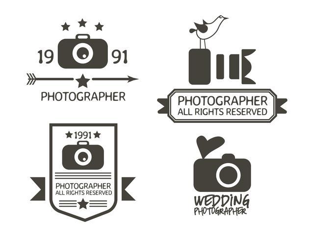 Fotografía de insignias y etiquetas en estilo vintage