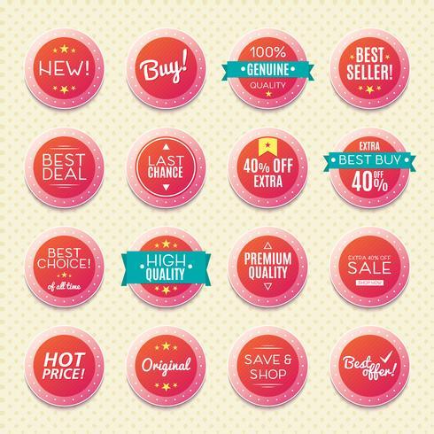 ensemble de badges et d'étiquettes vintage,
