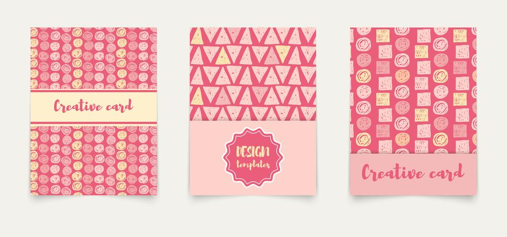 Template ethnic creative cards. vector